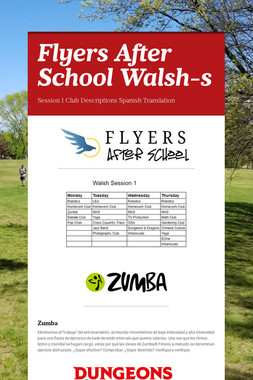 Flyers After School Walsh-s