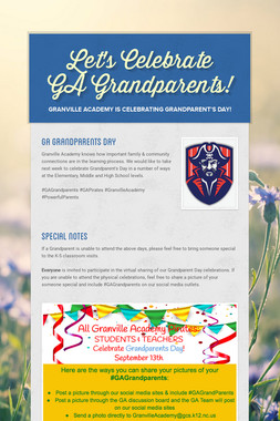Let's Celebrate GA Grandparents!