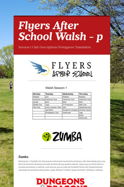 Flyers After School Walsh - p