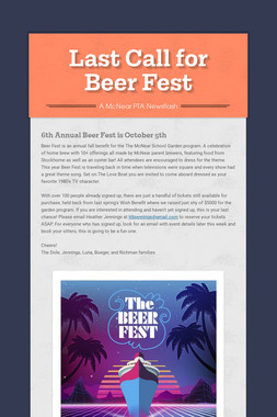 Last Call for Beer Fest