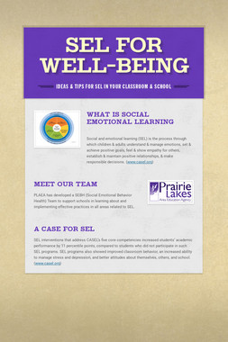 SEL for Well-being
