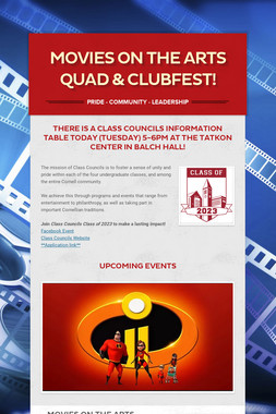MOVIES ON THE ARTS QUAD & CLUBFEST!