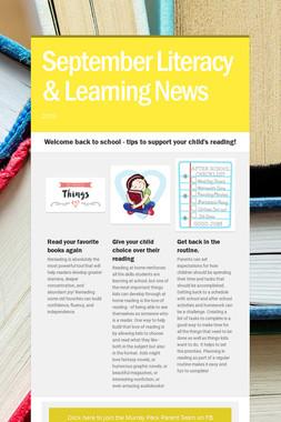 September Literacy & Learning News