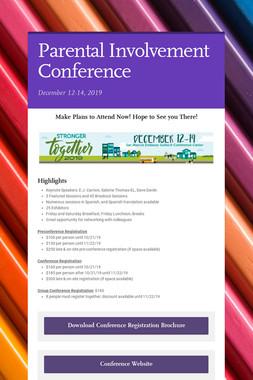 Parental Involvement Conference