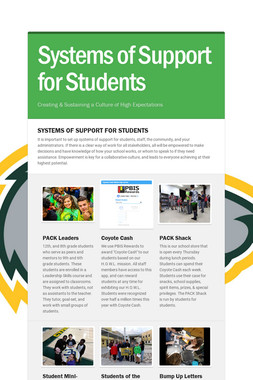 Systems of Support for Students