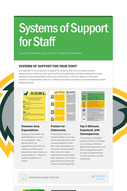 Systems of Support for Staff