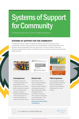 Systems of Support for Community