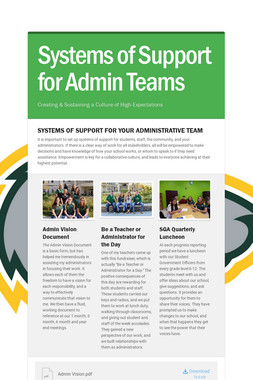 Systems of Support for Admin Teams