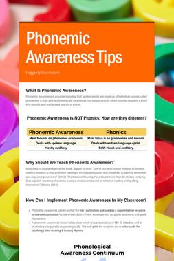 Phonemic Awareness Tips