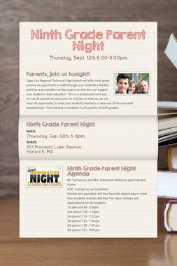 Ninth Grade Parent Night