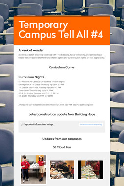 Temporary Campus Tell All #4