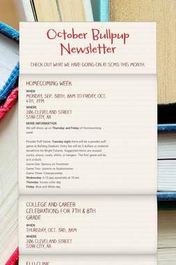 October Bullpup Newsletter