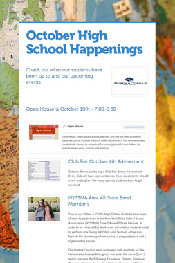 October High School Happenings