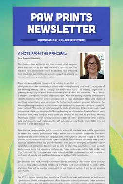 Paw Prints Newsletter
