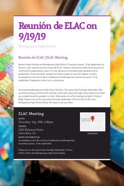 Reunión de ELAC on 9/19/19