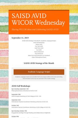 SAISD AVID WICOR Wednesday