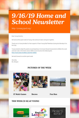 9/16/19 Home and School Newsletter