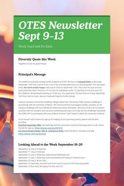 OTES Newsletter Sept 9-13