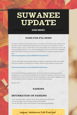 Suwanee Update