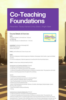 Co-Teaching Foundations