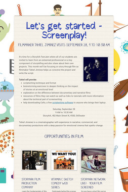 Let's get started - Screenplay!