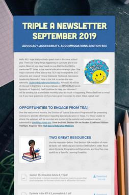 Triple A Newsletter September 2019