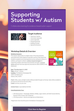 Supporting Students w/ Autism