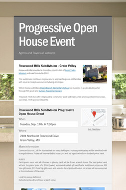 Progressive        Open House Event