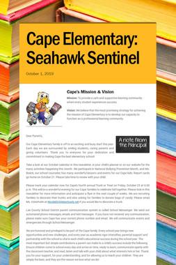 Cape Elementary: Seahawk Sentinel