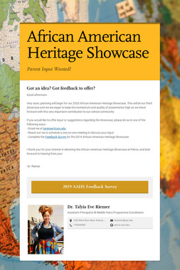 African American Heritage Showcase