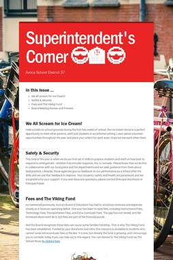 Superintendent's Corner 😎🏫😎