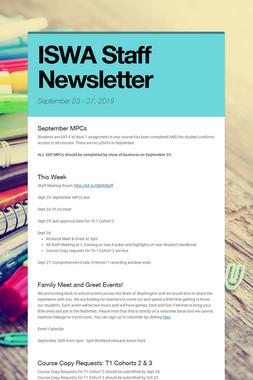 ISWA Staff Newsletter