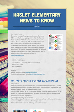 Haslet Elementary News to Know