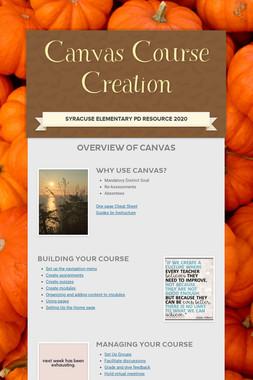 Canvas Course Creation