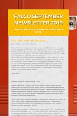 Falco September Newsletter  2019
