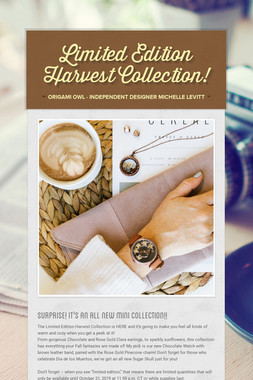 Limited Edition Harvest Collection!