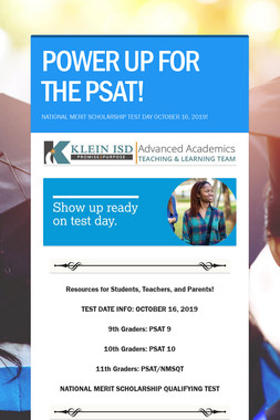 POWER UP FOR THE PSAT!