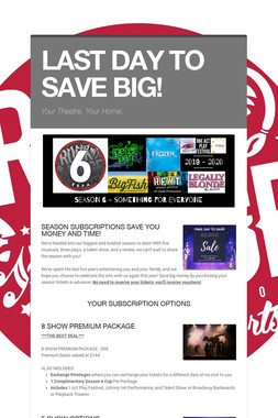 LAST DAY TO SAVE BIG!