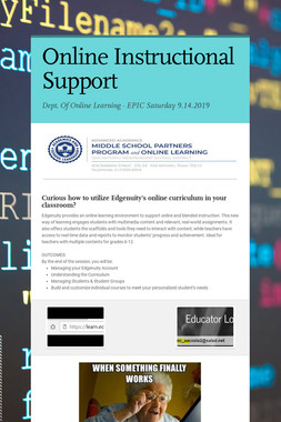 Online Instructional Support