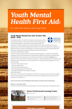 Youth Mental Health First Aid: