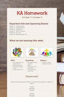 KA Homework
