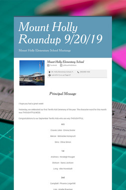 Mount Holly Roundup 9/20/19