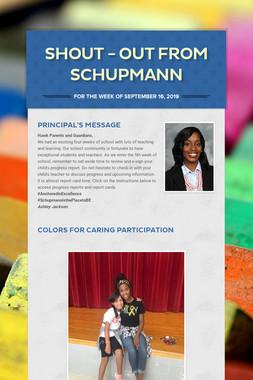 Shout - Out from Schupmann