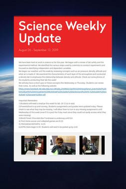 Science Weekly Update