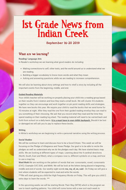 1st Grade News from Indian Creek