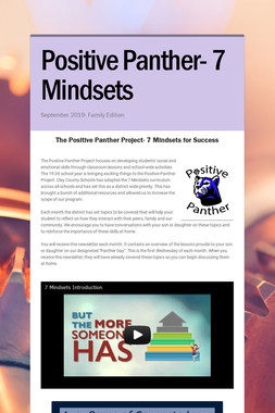 Positive Panther- 7 Mindsets