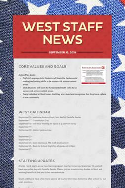 West Staff News