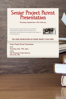 Senior Project Parent Presentation