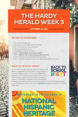 The Hardy Herald Week 3