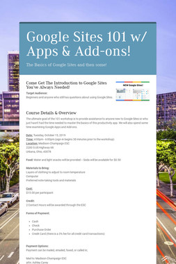 Google Sites 101 w/ Apps & Add-ons!
